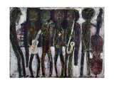 Jazz Band Dirty Style Blues, 1944 Giclée-trykk av Jean Dubuffet