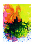 Chicago Watercolor Skyline Posters by  NaxArt
