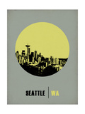 Seattle Circle Poster 2 Posters by  NaxArt