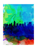 San Antonio Watercolor Skyline Prints by  NaxArt