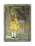 Book Illustration of Alice and the Cheshire Cat Giclee Print by M.L. Kirk
