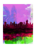 Tulsa Watercolor Skyline 2 Posters by  NaxArt