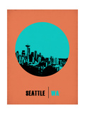 Seattle Circle Poster 1 Art by  NaxArt