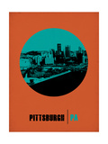 Pittsburgh Circle Poster 1 Posters by  NaxArt