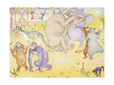 After They Came Out of the Ark Book Illustration Giclee Print by E. Boyd Smith