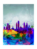 Philadelphia Watercolor Skyline Prints by  NaxArt
