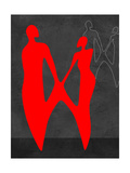 Red Couple 2 Prints by Felix Podgurski