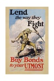 Lend the Way They Fight Poster Giclee Print by Edmund M. Ashe