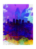 Phoenix Watercolor Skyline 1 Posters by  NaxArt