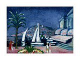 The Old Town and the Hotel Ambassadeurs, Cannes, c.1956 Giclee Print by Kees van Dongen