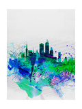 Boston Watercolor Skyline Prints by  NaxArt