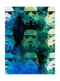 Star Warriors Watercolor 1 Poster by Anna Malkin