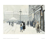 The Osterbrogade in Winter Giclee Print by Paul Fischer