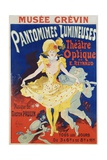 French Poster for Early Motion Picture Pantommes Lumineuses Giclee Print by Jules Chéret