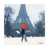 Snow Time For A Kiss Giclee Print by Jon Barker