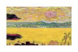 The Gulf of St. Tropez at Sunset, 1937 Giclée-Druck von Pierre Bonnard