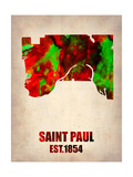 Saint Paul Watercolor Map Poster by  NaxArt