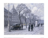 A View of the Magasin du Nord from the Holmens Kanal Giclee Print by Paul Fischer