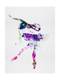 Ballerina Watercolor 2 Premium giclée print van Irina March