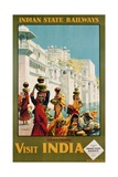Visit India - Indian State Railways, Udaipur Poster Giclee Print by W.S Bylityllis