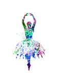 Ballerina Dancing Watercolor 4 Posters by Irina March