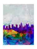 Columbus Watercolor Skyline Posters by  NaxArt