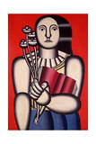 Woman with a Book, 1923 Gicléetryck av Fernand Leger