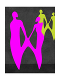 Purple Couple Print by Felix Podgurski