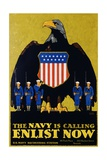 The Navy Is Calling - Enlist Now Poster Giclee Print by L.n. Britton