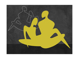 Yellow Couple Prints by Felix Podgurski