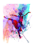 Ballerina's Dance Watercolor 1 Premium giclée print van Irina March
