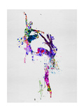 Two Ballerinas Dance Watercolor Premium giclée print van Irina March