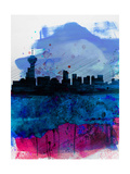 Vancouver Watercolor Skyline Posters by  NaxArt