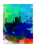 San Francisco Watercolor Skyline 2 Prints by  NaxArt