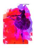 Ballerina Watercolor 3 Poster van Irina March
