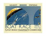 Boat Race Giclée-tryk