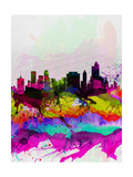 Tulsa Watercolor Skyline Prints by  NaxArt