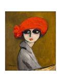 The Corn Poppy, C.1919 Giclée-Druck von Kees van Dongen