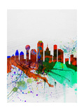 Dallas Watercolor Skyline Posters by  NaxArt
