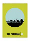 San Francisco Circle Poster 2 Prints by  NaxArt
