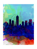 Indianapolis Watercolor Skyline Prints by  NaxArt