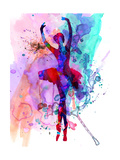 Ballerina's Dance Watercolor 3 Premium giclée print van Irina March