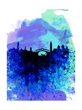 Venice Watercolor Skyline Prints by  NaxArt