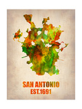 San Antonio Watercolor Map Print by  NaxArt
