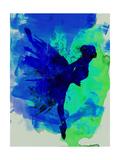 Ballerina on Stage Watercolor 2 Poster van Irina March