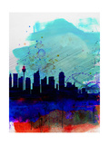 Sydney Watercolor Skyline Prints by  NaxArt