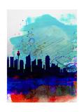 Sydney Watercolor Skyline Lámina por NaxArt