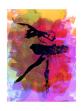 Black Ballerina Watercolor Poster by Irina March