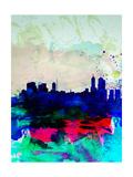 Melbourne Watercolor Skyline 2 Posters par  NaxArt