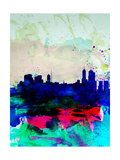Melbourne Watercolor Skyline 2 Poster von  NaxArt
